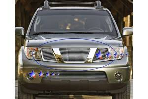 Dale's - Nissan 2005-2007 Pathfinder (Main|3 Section) Polished Aluminum Billet Grilles