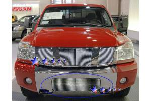 Dale's - Nissan 2004-2011 Titan (Lower Bumper) Polished Aluminum Vertical Billet Grille