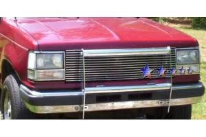 Dale's - Ford 1989-1992 Bronco 2 (Main) Polished Aluminum Billet Grille
