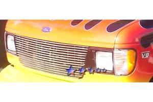 Dale's - Ford 1992-2006 Econoline Van (Main) Polished Aluminum Billet Grille