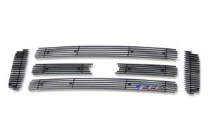 Dale's - Ford 2005-2007 Excursion (Main|6 Section) Black Powder Coated Aluminum Billet Grilles