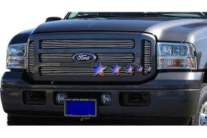 Dale's - Ford 2005-2007 Excursion (Main|6 Section) Polished Aluminum Billet Grilles
