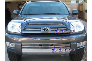 Dale's - Toyota 2003-2005 4Runner (Main|3 Section) Polished Aluminum Billet Grilles