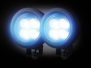 RECON - Smoked LED Round Driving Light Kit w/ Black Chrome Internal Housing