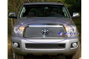 Dale's - Toyota 2008-2011 Sequoia (Main|With Logo Show) Polished Aluminum Billet Grille