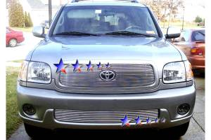 Dale's - Toyota 2001-2004 Sequoia (Main|With Logo show) Polished Aluminum Billet Grille