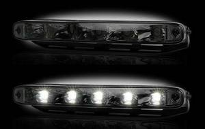 Recon - LED Daytime Running Light Kit - Rectangular AUDI Style w/ Smoked Lens