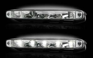RECON - LED Daytime Running Light Kit - Rectangular AUDI Style w/ Clear Lens