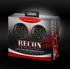RECON - LED Daytime Running Light Kit - Round Style w/ Smoked Lenses