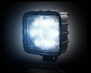 Recon - 30-Watt LED Square Driving Light Kit (Smoked Lens w/ Black Internal Chrome)
