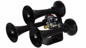 HornBlasters - Hornblasters AH-BB Bandit Triple Tone Air Horn - Black (Includes Valve)