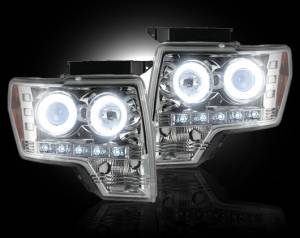 RECON - Recon 264190CLCC | CLEAR Projector Headlights w/ CCFL Halos For Ford F150 / Raptor 09-13