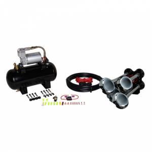 HornBlasters - Hornblasters HK-B4-127H | Bullet Air Horn Kit (full Package)
