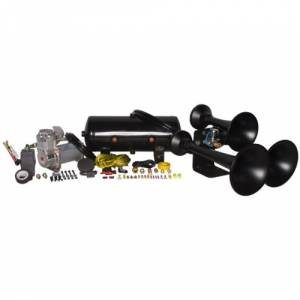 HornBlasters - HornBlasters HK-C3B-232  | Outlaw Black 232 Train Horn Kit (Full Package)