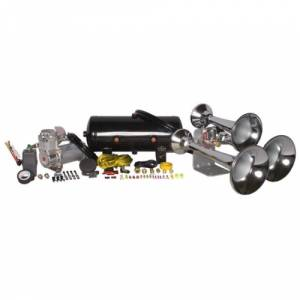 HornBlasters - HornBlasters HK-C3B-232 | Outlaw Chrome 232 Train Horn Kit (Full Package)