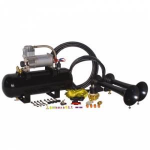 HornBlasters - Hornblasters HK-S2-228DX | Rocker 2 Gallon Horn Kit - Black  (full Package)