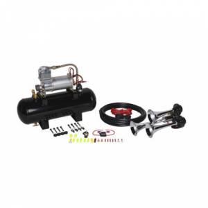 HornBlasters - HornBlasters HK-B3-127 | The Jackass Chrome 1.5 Gallon Horn Kit (Full Package)