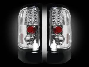 RECON - RECON 264170CL | LED Tail Lights - CLEAR (1994-2001 Dodge Ram 1500 & 1994-2002 Ram 2500/3500)