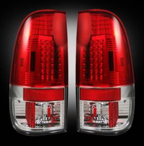 RECON - RECON 264172RD | LED Tail Lights - RED (1999-2007 Ford Superduty F250 - F650 & 1997-2003 F-150)
