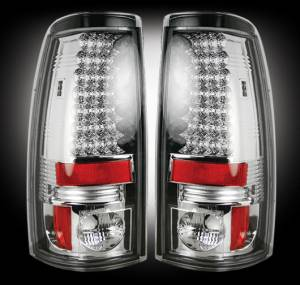 RECON - RECON 264173CL | LED Tail Lights - CLEAR (1999-2007 Silverado & Sierra)