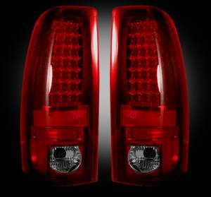 RECON - RECON 264173RBK | LED Tail Lights - DARK RED SMOKED (1999-2007 Silverado & Sierra)