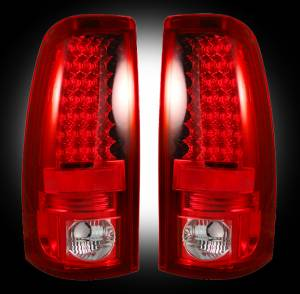 RECON - RECON 264173RD | LED Tail Lights - RED (1999-2007 Silverado & Sierra)