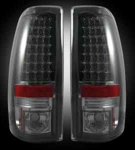 RECON - RECON 264173BK | LED Tail Lights - SMOKED (1999-2007 Silverado & Sierra) Classic