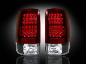 RECON - RECON 264177RD | LED Tail Lights - RED (2000-2006 Tahoe, Yukon, Suburban, Denali)
