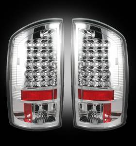 RECON - RECON 264171CL | LED Tail Lights - CLEAR (2002-2006 Dodge Ram 1500 & 2003-2006 Ram 2500/3500)