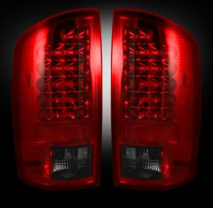RECON - RECON 264171RBK | LED Tail Lights - RED SMOKED (2002-2006 Dodge Ram 1500 & 2003-2006 Ram 2500/3500)