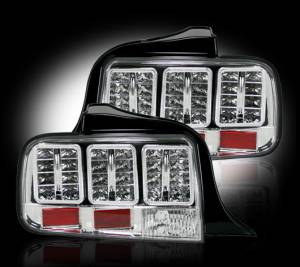 RECON - RECON 264187CL | LED Tail Lights - CLEAR (2005-2009 Ford Mustang)