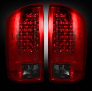RECON - RECON 264179RBK | LED Tail Lights - DARK RED SMOKED (2007-2008 Dodge Ram 1500 & 2007-2009 Ram 2500/3500)