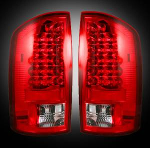 RECON - RECON 264179RD | LED Tail Lights - RED (2007-2008 Dodge Ram 1500 & 2007-2009 Ram 2500/3500)