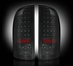 RECON - RECON 264179BK | LED Tail Lights - SMOKED (2007-2008 Dodge Ram 1500 & 2007-2009 Ram 2500/3500)