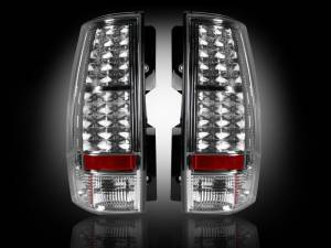 RECON - RECON 264174CL | LED Tail Lights - CLEAR (2007-2013 Tahoe, Yukon, Suburban, Denali)