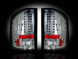 RECON - RECON 264189CL | LED Tail Lights - CLEAR  (2007-2013 Sierra 1500/2500/3500 *Single Wheel ONLY*)