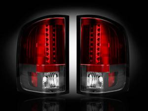 RECON - RECON 264189RD | LED Tail Lights - RED (2007-2013 Sierra 1500/2500/3500 *Single Wheel ONLY*)