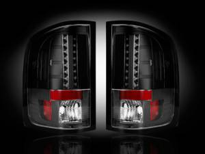 RECON - RECON 264189BK | LED Tail Lights - SMOKED (2007-2013 Sierra 1500/2500/3500 *Single Wheel ONLY*)