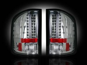 RECON - RECON 264175CL | LED Tail Lights - CLEAR (2007-2013 Silverado & Sierra Dually)