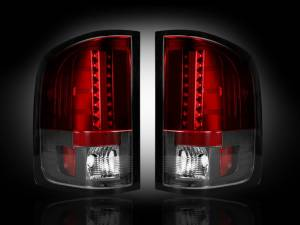 RECON - RECON 264175RD | LED Tail Lights - RED (2007-2013 Silverado & Sierra Dually)