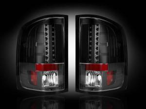 RECON - RECON 264175BK | LED Tail Lights - SMOKED (2007-2013 Silverado & Sierra Dually)
