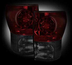 RECON - RECON 264188RBK | LED Tail Lights - RED SMOKED (2007-2013 Toyota Tundra)