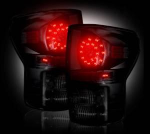 RECON - RECON 264188BK | LED Tail Lights - SMOKED (2007-2013 Toyota Tundra)