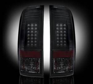 RECON - RECON 264176BK | LED Tail Lights - SMOKED (2008-2013 Ford Superduty F250 - F650)