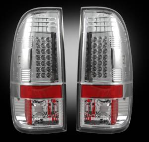 RECON - RECON 264176CL | LED Tail Lights - CLEAR (2008-2013 Ford Superduty F250 - F650)