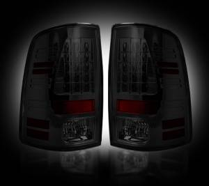 RECON - RECON 264169BK | LED Tail Lights - SMOKED (2009-2016 Dodge Ram 1500 & 2010-2016 Ram 2500/3500)