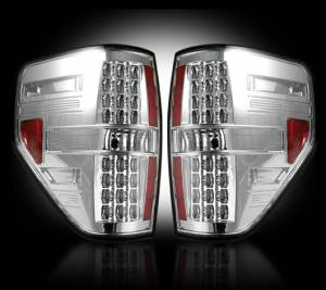 RECON - RECON 264168CL | LED Tail Lights - CLEAR (2009-2014 Ford Raptor & F-150)