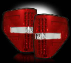 RECON - RECON 264168RD  LED Tail Lights - RED (2009-2014 Ford Raptor & F-150)