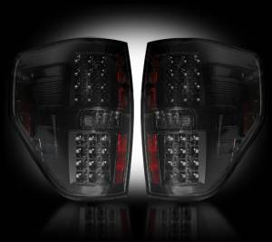 Recon - RECON 264168BK | LED Tail Lights - SMOKED (2009-2014 Ford Raptor & F-150)