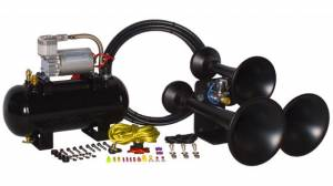 HornBlasters - Hornblaster HK-C3B-127H Black Outlaw 127VX Train Horn Kit